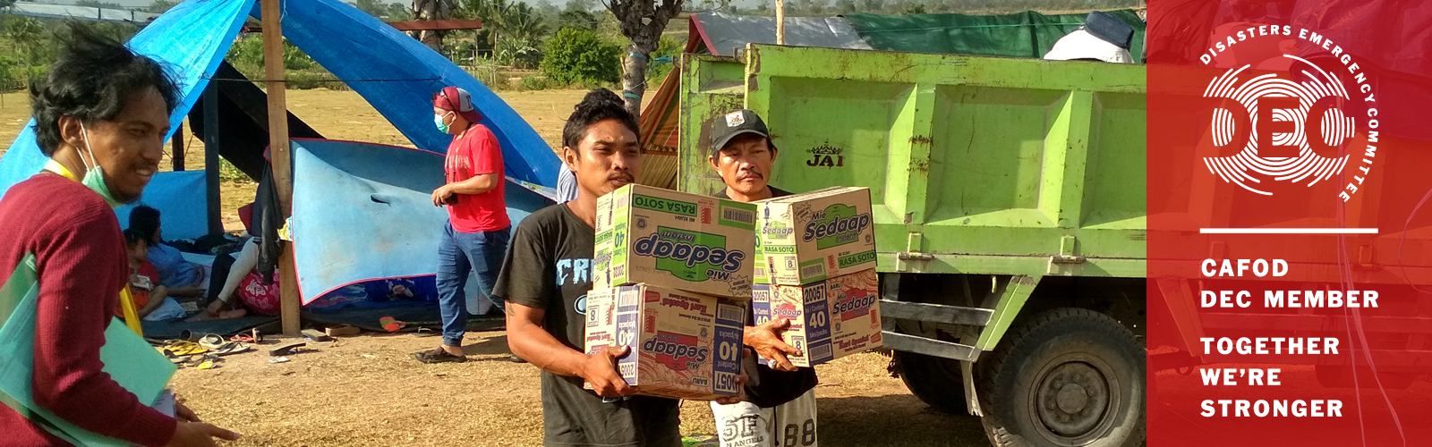 Aid is getting through to help people affected by the Tsunami in Indonesia. CAFOD is supporting as part of the DEC.