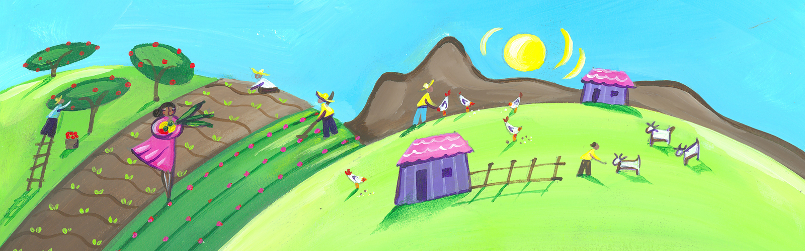 Fundraise as a group and create a virtual village from CAFOD World Gifts!